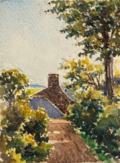 Village - Watercolor by French Master - Mid 20th Century