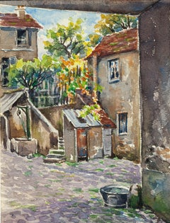 Countryside - Watercolor by French Master - Mid 20th Century