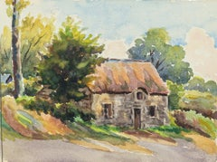 Cottage - Watercolor by French Master - Mid 20th Century
