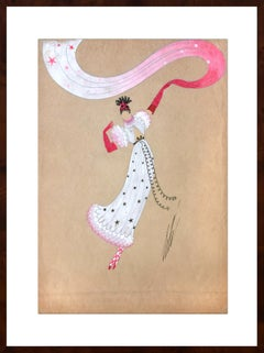 Danseuse à l'Écharpe - Mixed Media by Erté - 1940s
