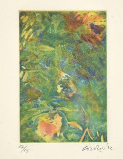 Green Composition  - Original Etching by Nino Cordio - 1995