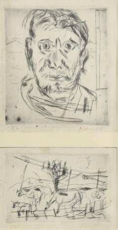 Pair of Compositions - Etching by N. Gattamelata - Late 20th Century