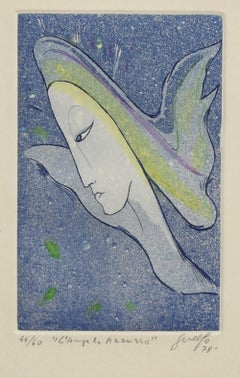Blue Angel - Original Etching by Guelfo - 1978