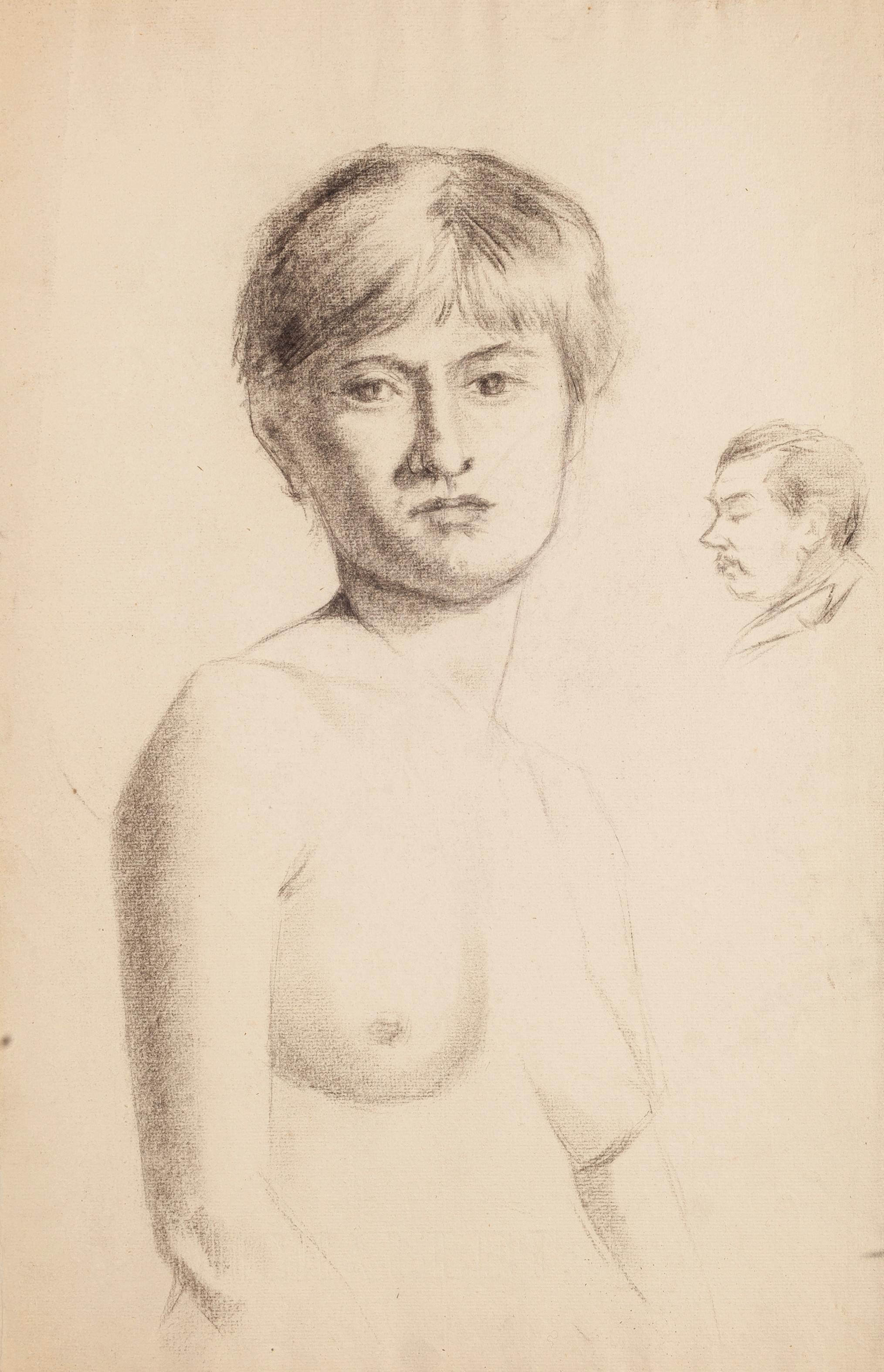 Portrait of a Nude Woman - Early 1900 - René François Xavier Prinet - Drawing