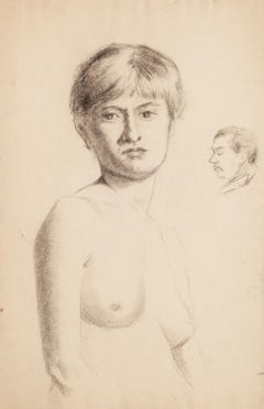Portrait of a Nude Woman - Early 1900 - René François Xavier Prinet - Drawing
