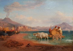 The Wagon of the Coopers in the Gulf of Naples with the Vesuvius on Background