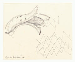 Banana - Original Pen Drawing on Paper - 1962