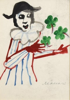 Four-Leaf Clover - Mixed Media by M. Maccari -1960s