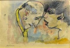 Confidences - Mixed Media by M. Maccari - 1960s