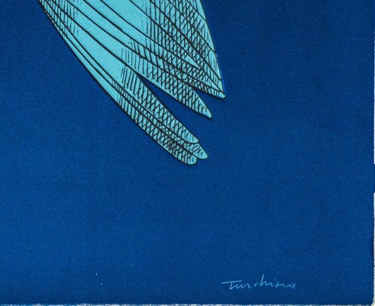 The Mechanical Bird - Original Lithograph by Aldo Turchiaro - 1980 For Sale 1
