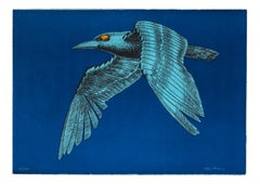 The Mechanical Bird - Original Lithograph by Aldo Turchiaro - 1980