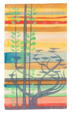 Sunset - Original Watercolor - 1951