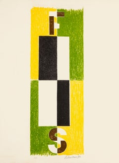 Composition - Original Lithograph by Pavel Mansouroff - 1970s