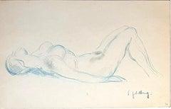 Nude - Original Pastel by S. Goldberg - Mid 20th Century
