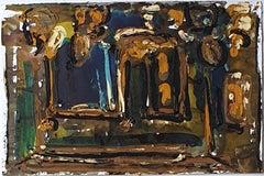 Abstract Composition - Original Tempera by A. Matheos