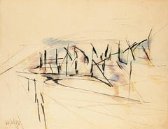 Composition - Ink and Watercolor Drawing - 1951