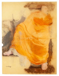 Figure - Original Mixed Media by Marcel Mangin - Early 20th Century
