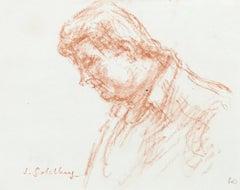 Portrait - Original Pastel by S. Goldberg - Mid 20th Century