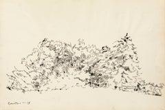 Landscape - Original Mixed Media by T. Gertler - 1970s