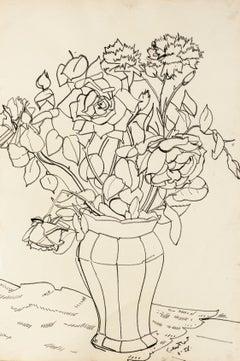 Still Life- Original Oil Pastel by T. Gertler - 1958