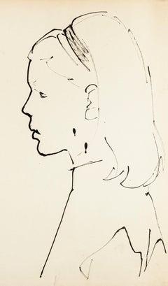Portrait - Original Oil Pastel by T. Gertler - 1950s