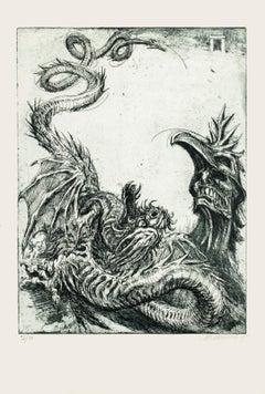 Hydra - Original Etching by M. Chirnoaga - Late 20th Century