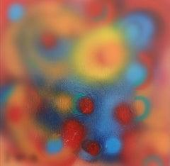 Nebula - Original Acrylic on Panel by M. Goeyens - 21th Century