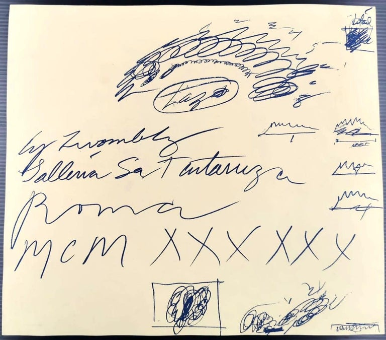 Vintage Cy Twombly Exhibition Leaflet - Galleria La Tartaruga 1960 - Contemporary Art by (after) Cy Twombly