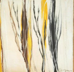 Black and Brown Trees - Original Acrylic on Table by M. Goeyens - 2019