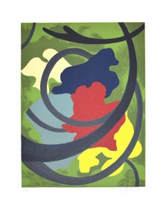 Abstract Composition - Original Screen Print by A. Fanfani - 1972