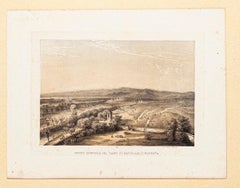 View of the Military Field in Magenta - Lithograph by Carlo Perrin - 1860