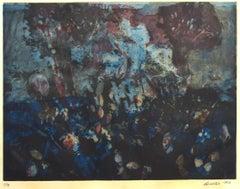 Flower Composition - Original Etching by Nino Cordio - 1967