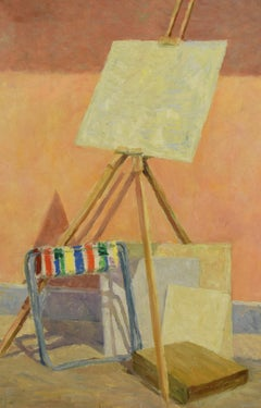 The Easel - Original Oil on Canvas by Paul Nicholls 1967