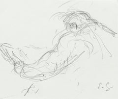 Figure - Original Pencil Drawing by S. Goldberg - Mid 20th Century