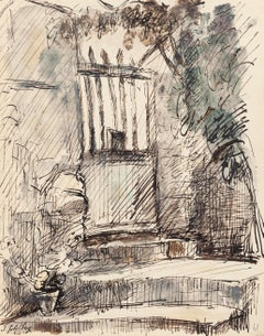 Entry - Original Ink and Watercolor by S. Goldberg - 1952