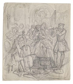 Musicians - Pencil on paper - 20th century