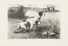 Dogs - Set of Five Lithographs realized by Eugenio Cecconi - 1980