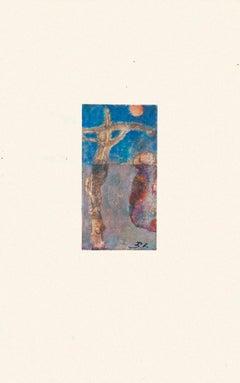 Crucifixion - Original Artwork in Mixed Media - 20th Century