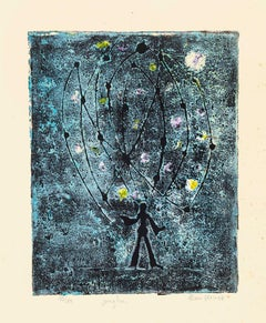 Juggler - Original Etching on Paper by Alain Ducros - 1954