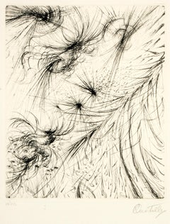 Cosmic Garden - Etching and Drypoint by R. Castello - 1964