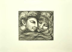 Lovers - Original Etching by Carlo Levi - 1964