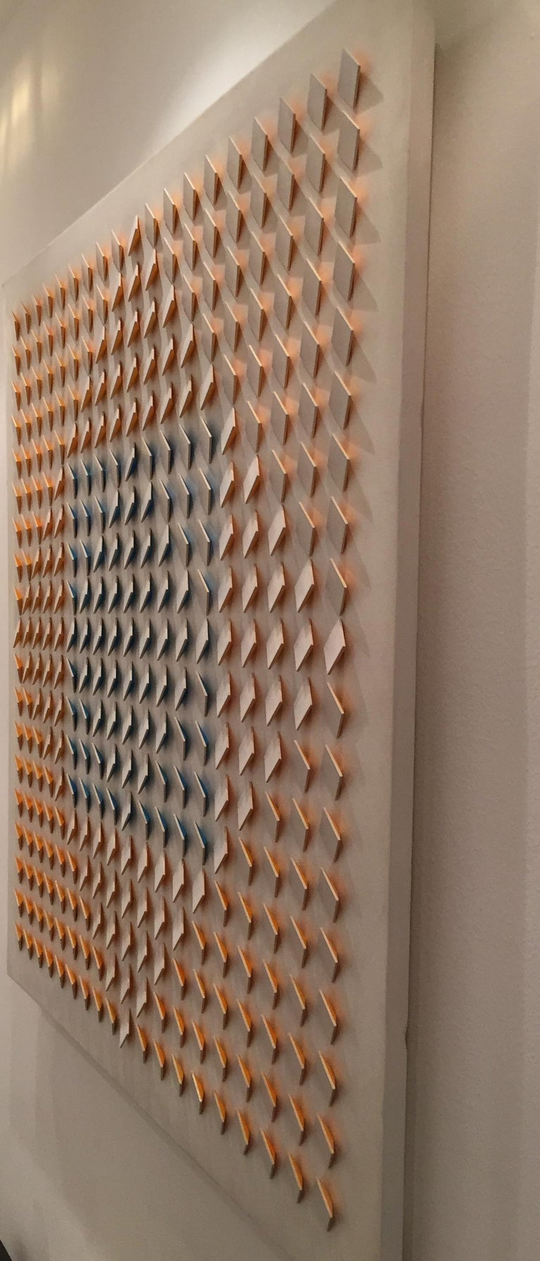Atmosphère Chromoplastique N.246 - Acrylic on Wood by L. Tomasello -  - Op Art Painting by Luis Tomasello