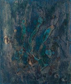 Blue Composition - Original Mixed Media by Esy A. Belluzzi - 1963