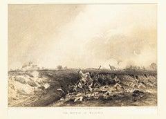 The Battle of Magenta - Original Hand Colored Lithograph by Carlo Bossoli - 1854