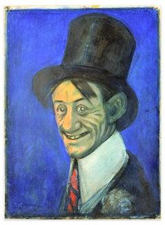 Portrait of Ettore Petrolini - Mixed Media Drawing by G. Galantara