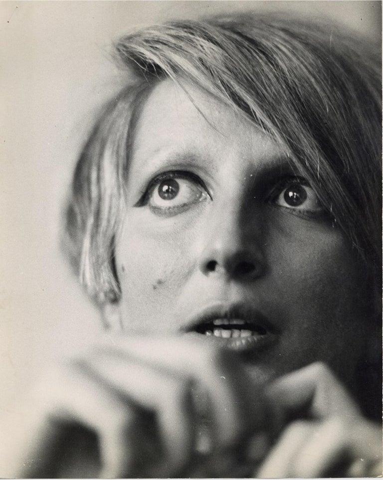 Gianni Piccione Portrait Photograph - Portrait of Mina - Original Vintage Photograph - 1960s