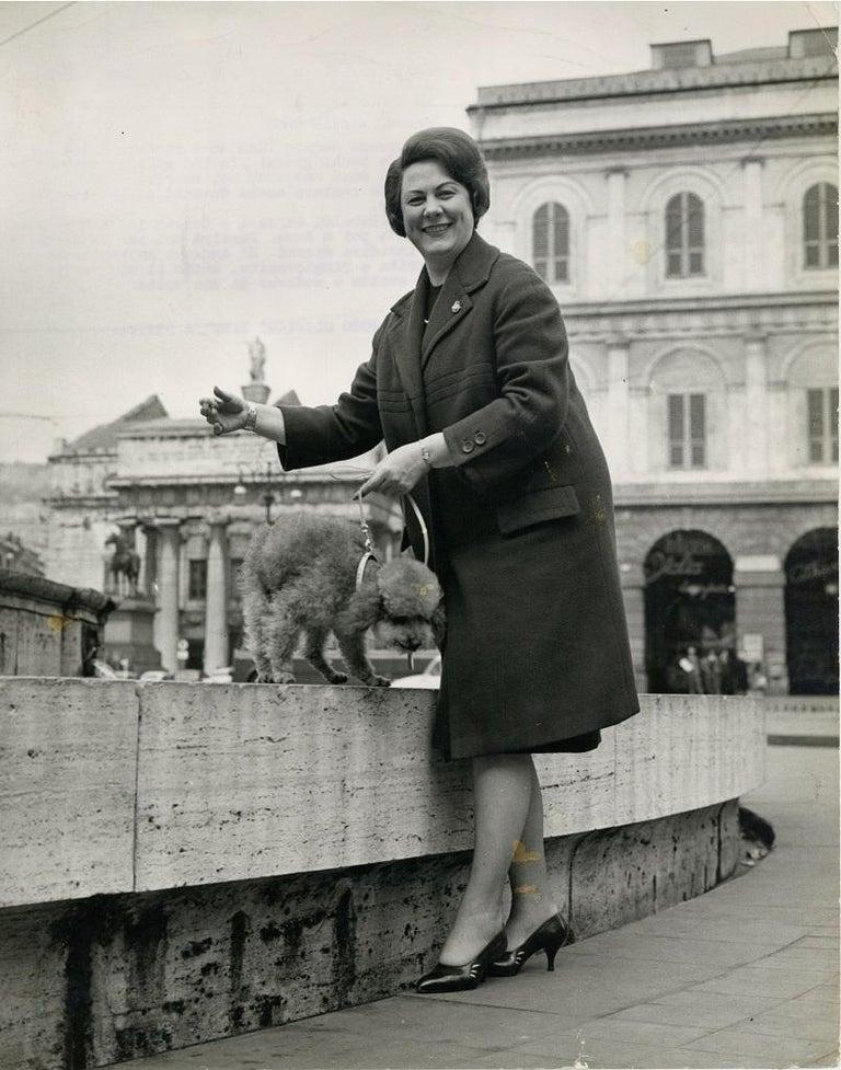 Oliviero Zanni Portrait Photograph - Portrait of Renata Tebaldi - Original Vintage Photograph - 1961