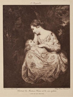 Mother and Child - Lithograph by P. Reynolds - Late 19th Century