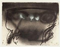 Vase Space - Vintage Offset Print After Antoni Tàpies - 1982