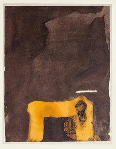 Paint and Number 3 - Vintage Offset Print After Antoni Tàpies - 1982